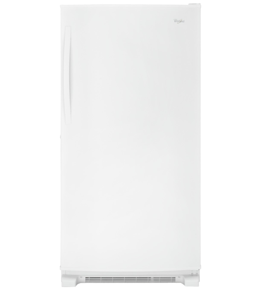 Whirlpool Freezer 33 White WZF79R20DW in White color showcased by Corbeil Electro Store