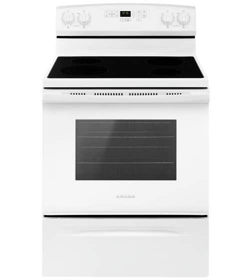 Amana Range 30 YAER6603SF in White color showcased by Corbeil Electro Store