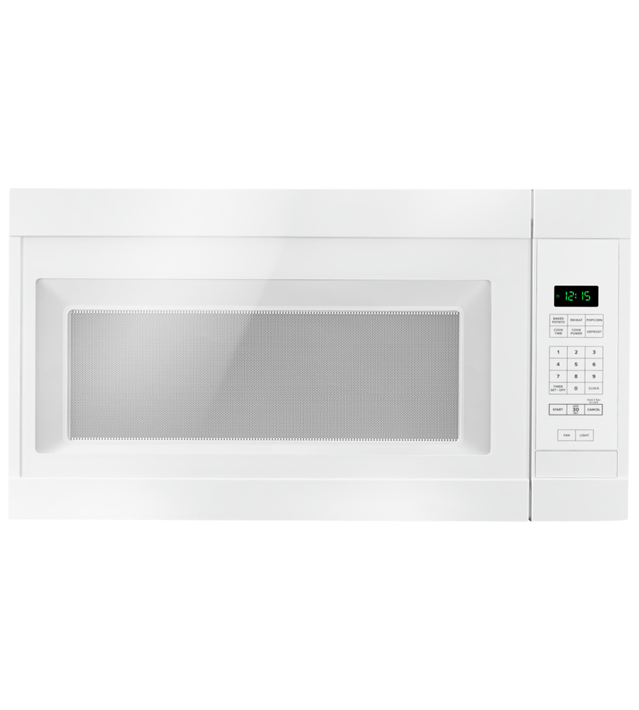 Amana Over-the-range Microwave 30 YAMV2307PF in White color showcased by Corbeil Electro Store