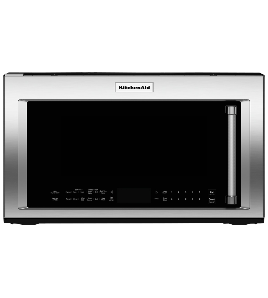 KitchenAid microwave in Stainless Steel color showcased by Corbeil Electro Store