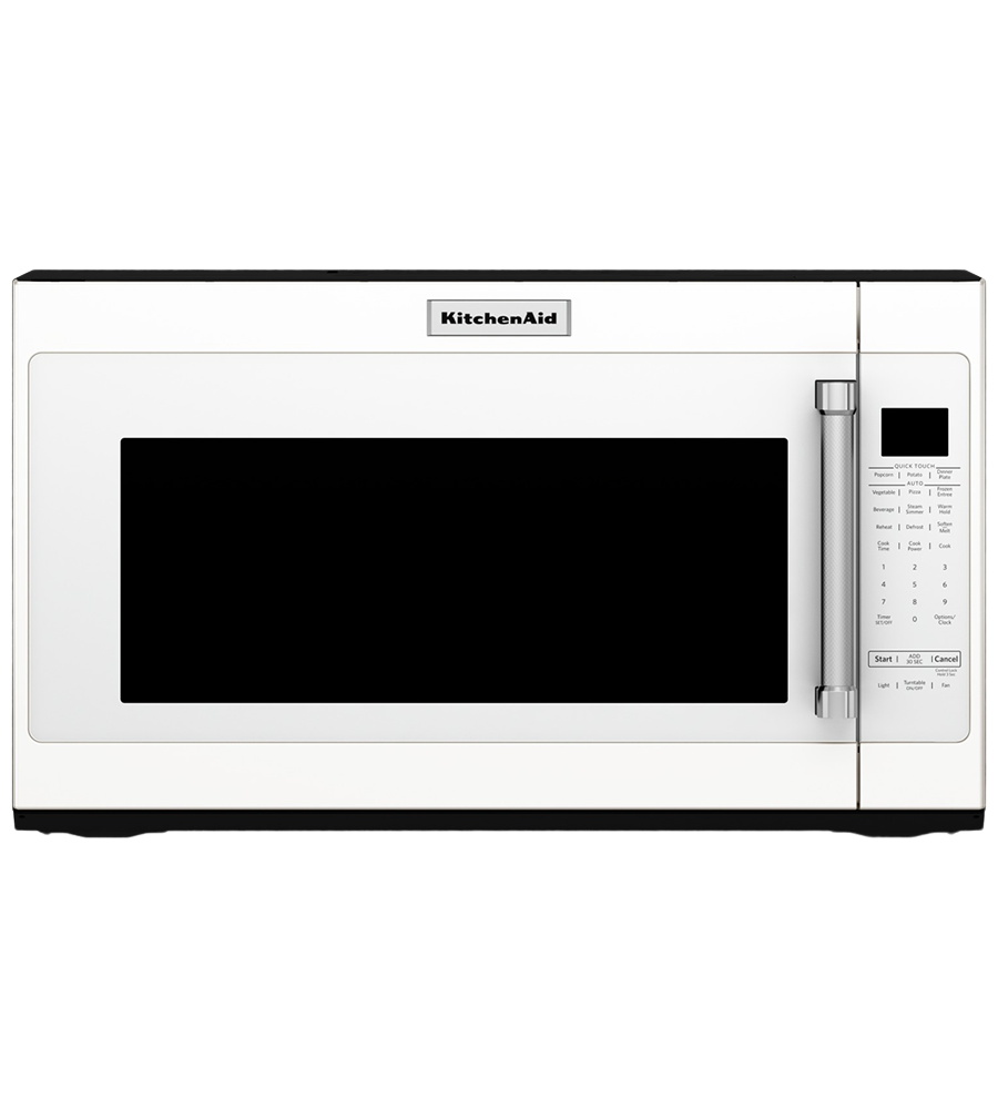 KitchenAid microwave in White color showcased by Corbeil Electro Store