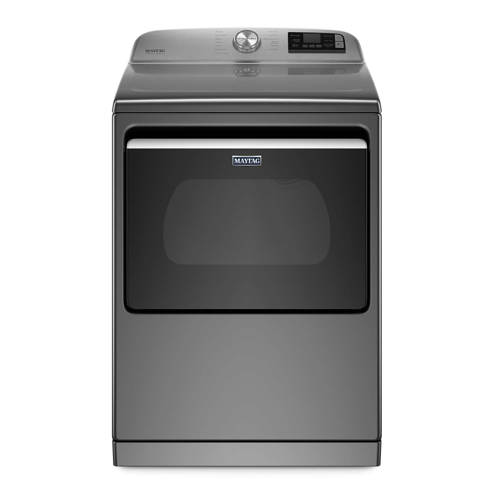 Maytag Dryer YMED7230HC in Grey color showcased by Corbeil Electro Store