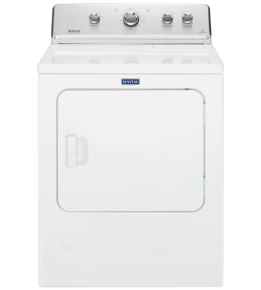 Maytag Dryer 29 White YMEDC465HW in White color showcased by Corbeil Electro Store