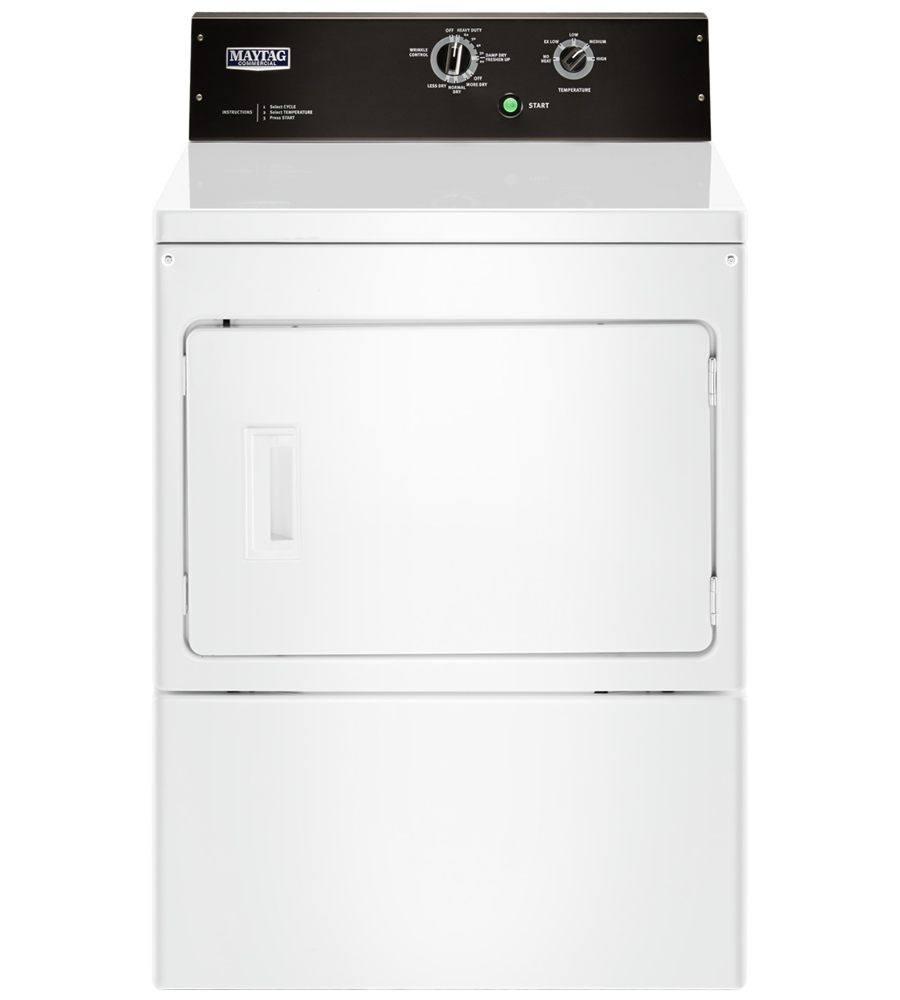 Maytag Dryer 27 White YMEDP575GW in White color showcased by Corbeil Electro Store