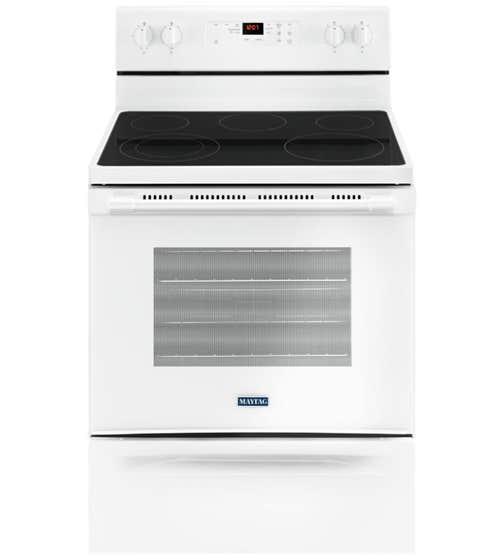 Maytag Cuisiniere 30 YMER6600F en couleur Blanc présenté par Corbeil Electro Store