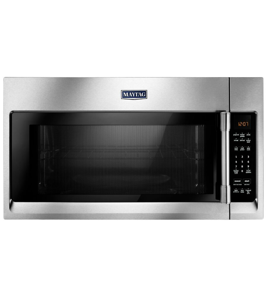 Maytag Over-the-range microwave showcased by Corbeil Electro Store