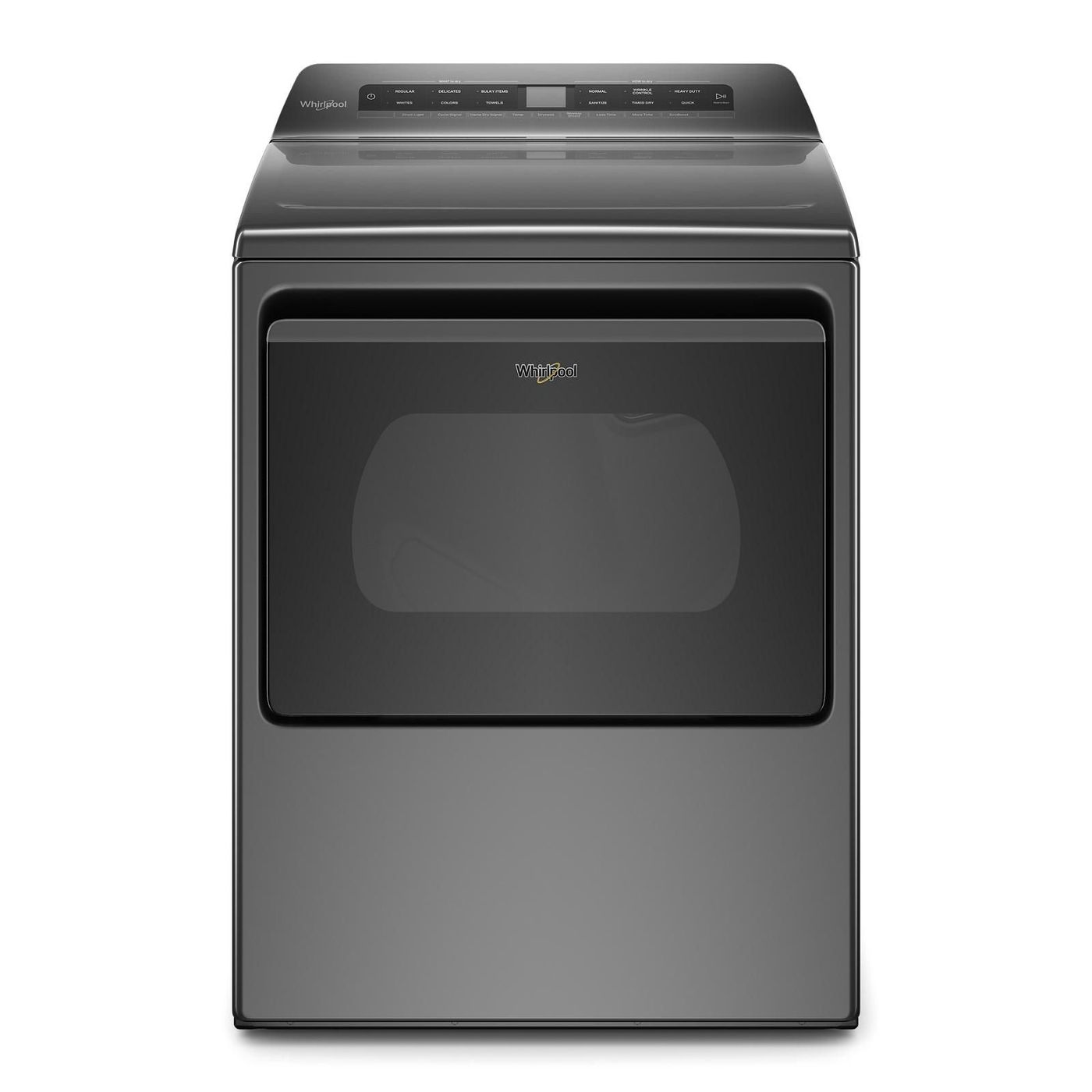 Whirlpool Dryer YWED5100HC in Grey color showcased by Corbeil Electro Store