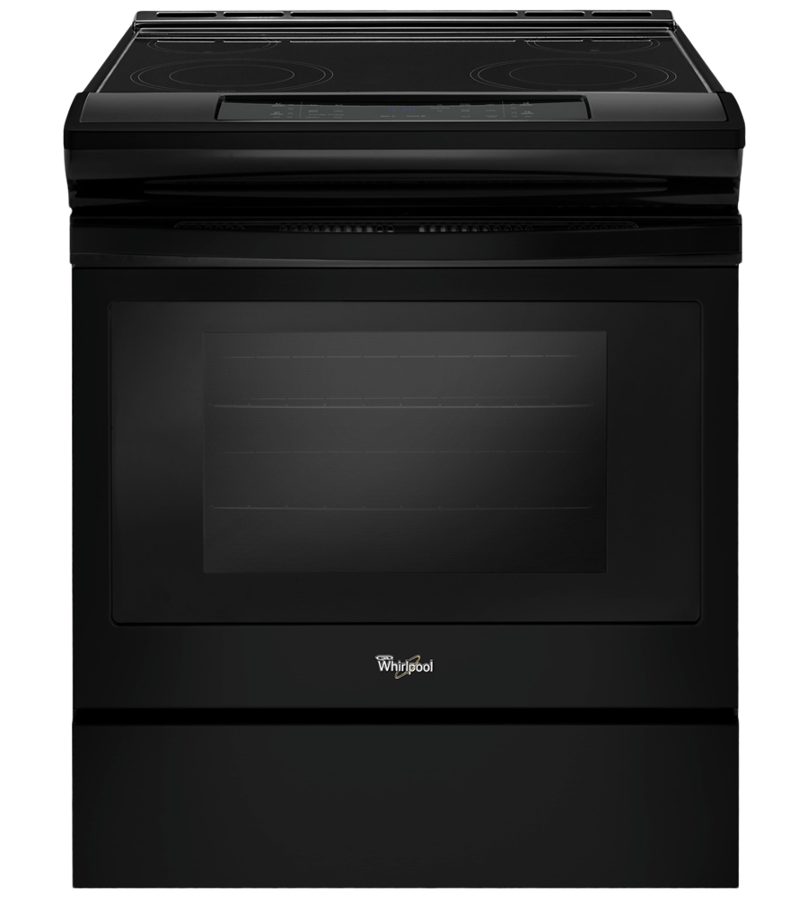 Whirlpool Range 30 YWEE510S0F in Black color showcased by Corbeil Electro Store