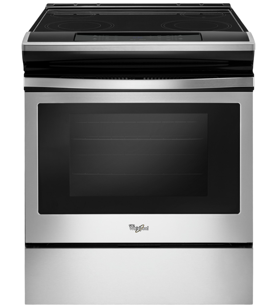Whirlpool Range 30 YWEE510S0F in Stainless Steel color showcased by Corbeil Electro Store