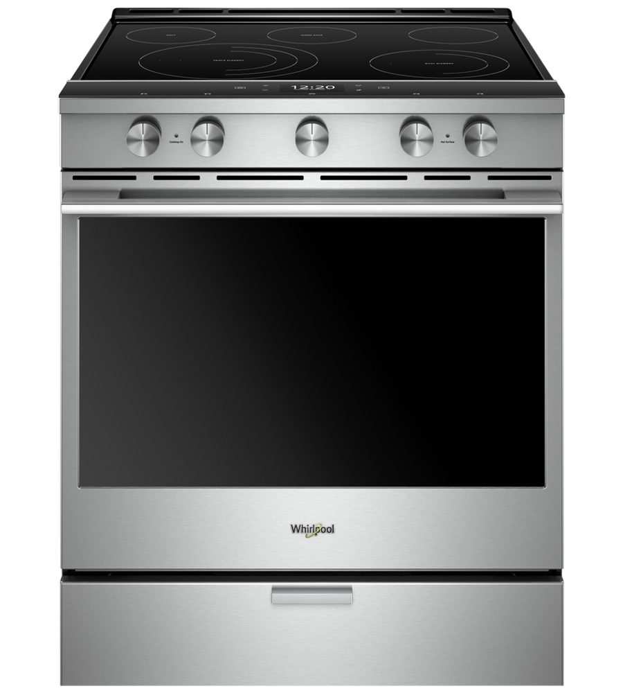 Whirlpool Range 30 Stainless Steel in Stainless Steel color showcased by Corbeil Electro Store