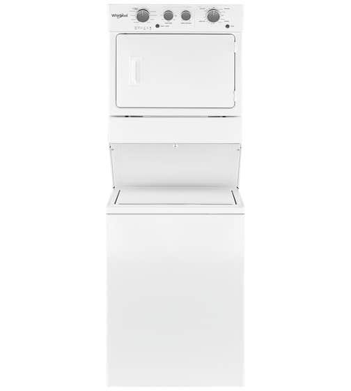 Buanderie superposée Whirlpool en couleur Blanc présenté par Corbeil Electro Store