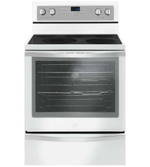 Whirlpool Cuisiniere 30 YWFE745H0F en couleur Blanc glacé présenté par Corbeil Electro Store