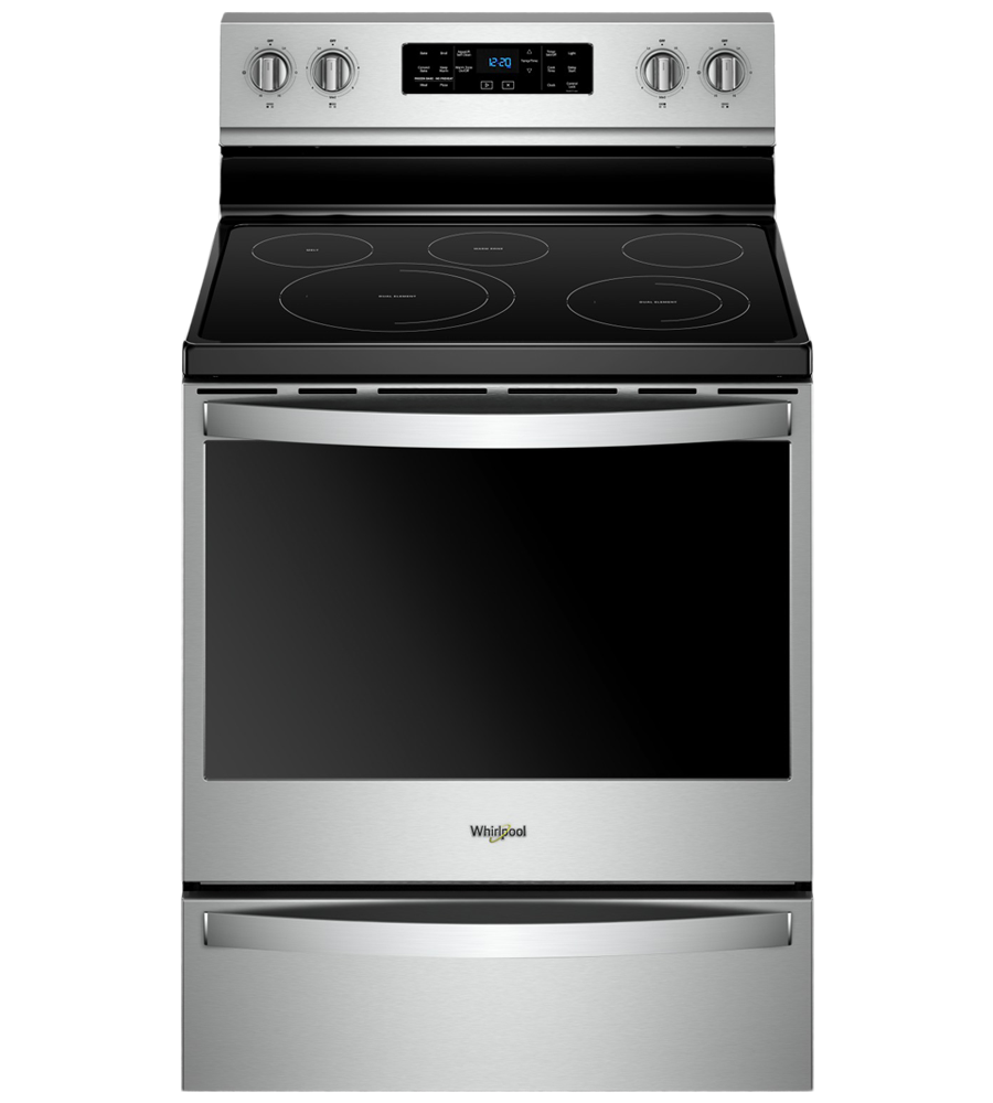 Whirlpool Range in Stainless Steel color showcased by Corbeil Electro Store