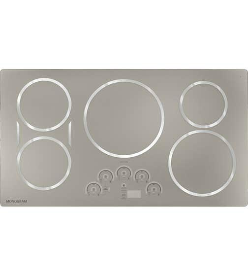Surface de cuisson Monogram en couleur Acier Inoxydable présenté par Corbeil Electro Store