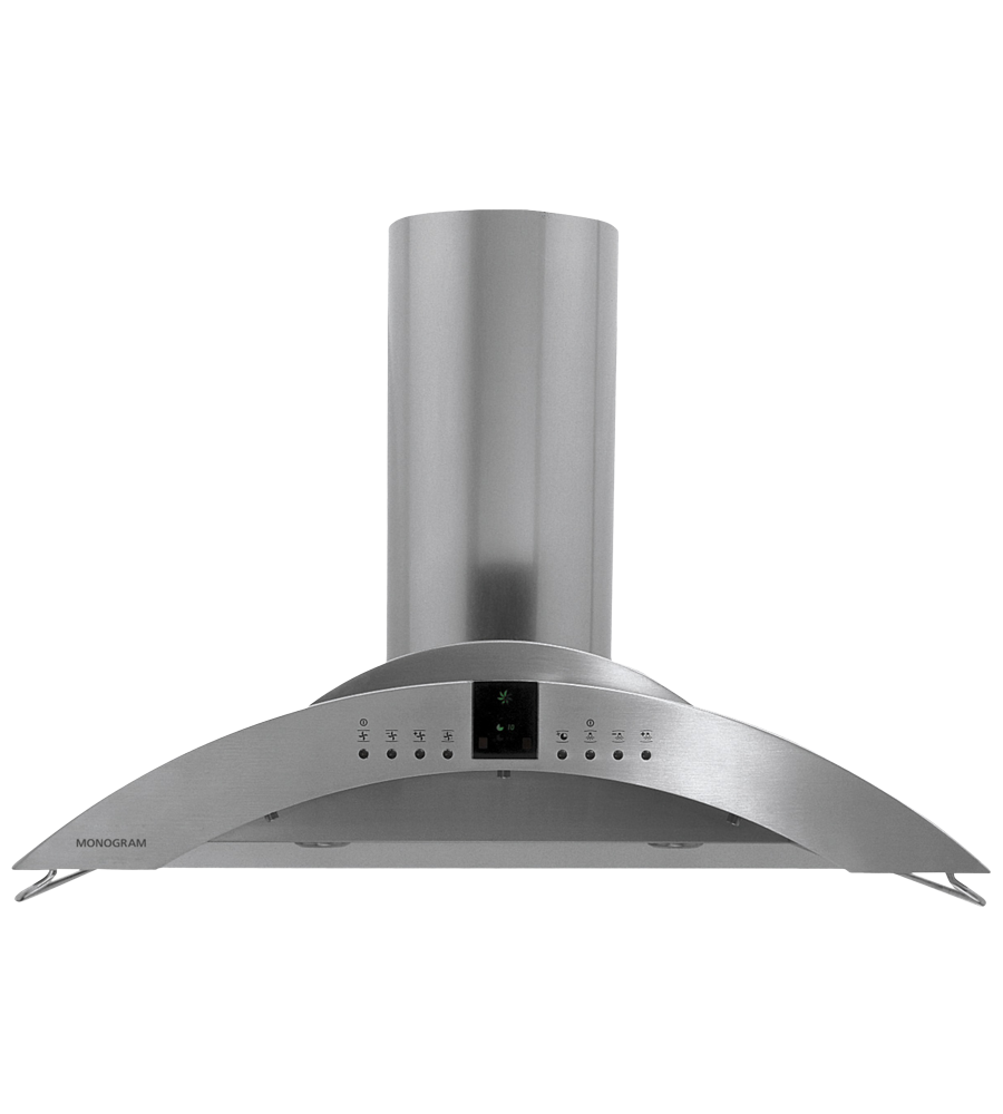 Monogram Ventilation in Stainless Steel color showcased by Corbeil Electro Store