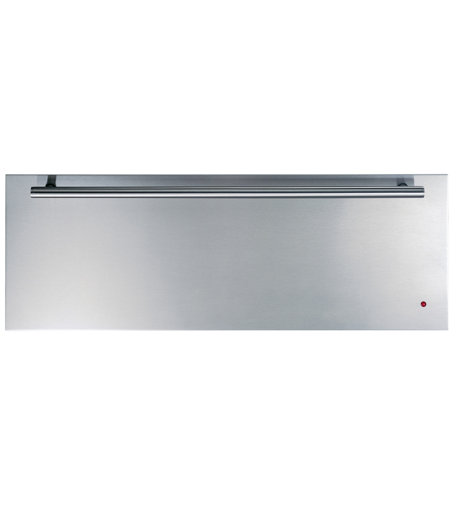 Monogram Waming Drawer in Stainless Steel color showcased by Corbeil Electro Store